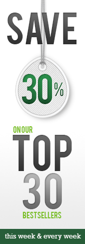 Click here to view our Save 30% on our top 30 bestsellers page