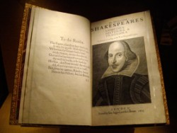 The original First Folio of Shakespeare - one of a handful left in the world