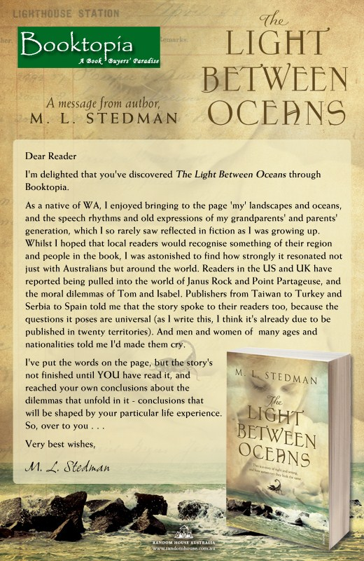 Click here to buy The Light Between Oceans